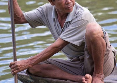 A Boatman of Hoi-An (Vietnam)