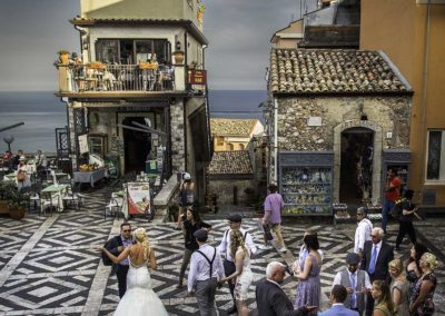 A wedding in Castelmola, Sicily