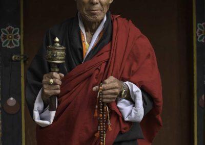 The Bhutanese monk (Bhutan)