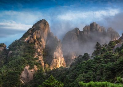 Huanshan mists clearing