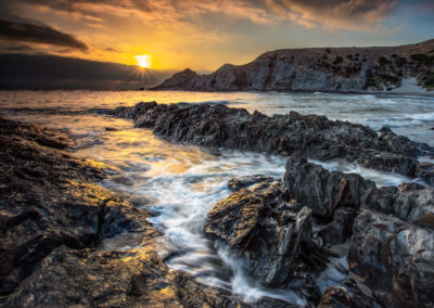 Last light at Blowhole Beach